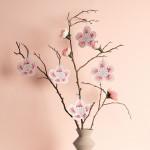 Carton à broder - Fleurs de cerisier - 8 pcs