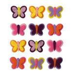 Autocollant feutrine Papillons 12 pcs