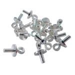 Mini crochet argent 7 mm - 16 pièces