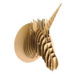 Trophée Licorne en carton 40 cm