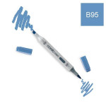Marqueur à alcool double-pointe Ciao - B95 Bleu de cobalt clair grisé