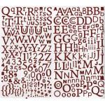 Alphabet Stickers pailletés - Rouge
