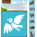 Set de 6 pochoirs enfants - Animaux familiers
