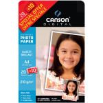 Papier photo brillant Performance A4 - 210 g/m² - 20 + 10 feuilles