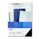 Plat de couverture Grain cuir A4 250 g/m² Noir 25 pcs