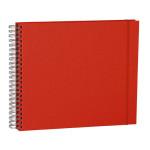 Album Maxi Mucho 90 pages noires couverture lin 34,5 x 30 cm - Rouge