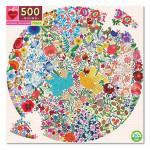 Puzzle rond Oiseau bleu Oiseau jaune 500 pièces