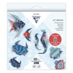 Kit origami Faune marine 60 feuilles 3 formats