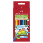 Crayons couleur triangulaire x 12 + taille crayon