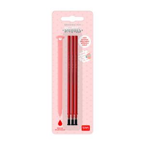 Recharge pour stylo effaçable x 3 pcs - Rose